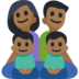 Family - Man: Medium-Dark Skin Tone, Woman: Medium-Dark Skin Tone, Boy: Medium-Dark Skin Tone, Boy: Medium-Dark Skin Tone