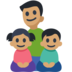 Family - Man: Medium Skin Tone, Girl: Medium Skin Tone, Boy: Medium Skin Tone