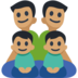 Family - Man: Medium Skin Tone, Man: Medium Skin Tone, Boy: Medium Skin Tone, Boy: Medium Skin Tone