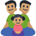 Family - Man: Medium Skin Tone, Man: Medium Skin Tone, Girl: Medium Skin Tone