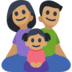 Family - Man: Medium Skin Tone, Woman: Medium Skin Tone, Girl: Medium Skin Tone