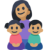 Family - Woman: Medium Skin Tone, Girl: Medium Skin Tone, Boy: Medium Skin Tone