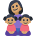 Family - Woman: Medium Skin Tone, Girl: Medium Skin Tone, Girl: Medium Skin Tone