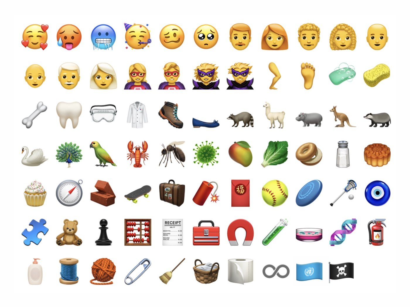 New emojis on iOS in 2018