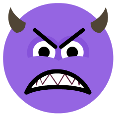 Angry Face with Horns on Skype Emoticons 1.2