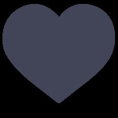 Black Heart on Skype Emoticons 1.2