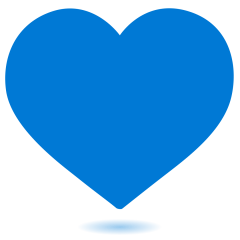 Blue Heart on Skype Emoticons 1.2