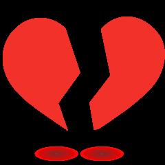 Broken Heart on Skype Emoticons 1.2