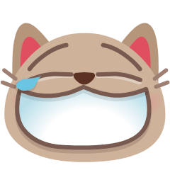 Cat with Tears of Joy on Skype Emoticons 1.2