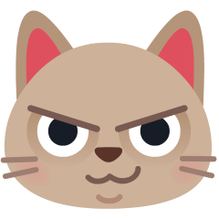 Cat with Wry Smile on Skype Emoticons 1.2
