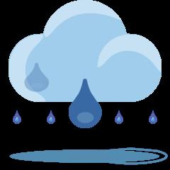 Cloud with Rain on Skype Emoticons 1.2