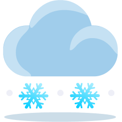 Cloud with Snow on Skype Emoticons 1.2