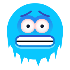 Cold Face on Skype Emoticons 1.2