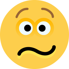 Confounded Face on Skype Emoticons 1.2