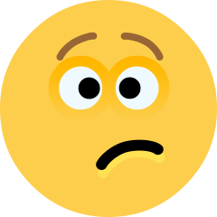 Confused Face on Skype Emoticons 1.2