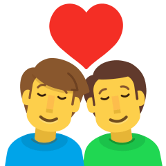 Couple with Heart: Man, Man on Skype Emoticons 1.2