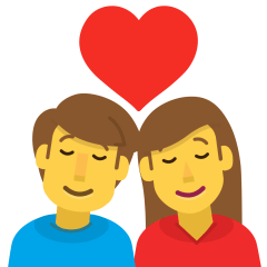 Couple with Heart: Woman, Man on Skype Emoticons 1.2