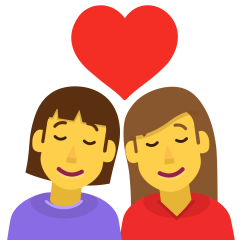 Couple with Heart: Woman, Woman on Skype Emoticons 1.2