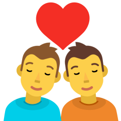 Couple with Heart on Skype Emoticons 1.2