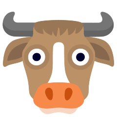 Cow Face on Skype Emoticons 1.2