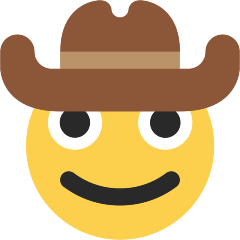 Cowboy Hat Face on Skype Emoticons 1.2