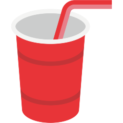 Cup with Straw on Skype Emoticons 1.2