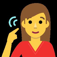 Deaf Woman on Skype Emoticons 1.2