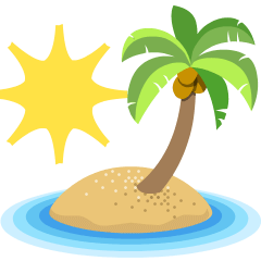 Desert Island on Skype Emoticons 1.2