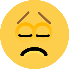 Disappointed Face on Skype Emoticons 1.2