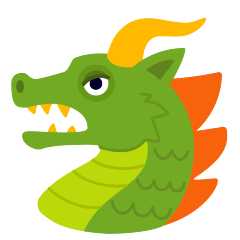 Dragon Face on Skype Emoticons 1.2