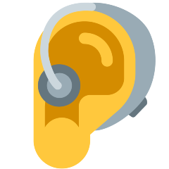 Ear with Hearing Aid on Skype Emoticons 1.2