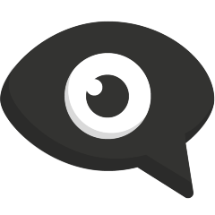 Eye in Speech Bubble on Skype Emoticons 1.2