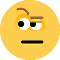 Face with Raised Eyebrow on Skype Emoticons 1.2