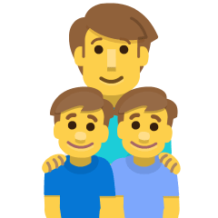 Family: Man, Boy, Boy on Skype Emoticons 1.2