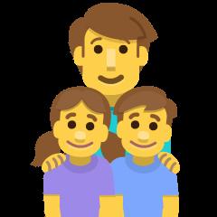 Family: Man, Girl, Boy on Skype Emoticons 1.2