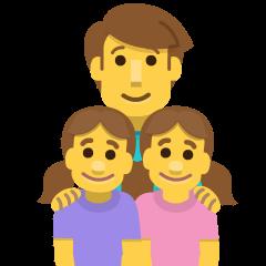 Family: Man, Girl, Girl on Skype Emoticons 1.2