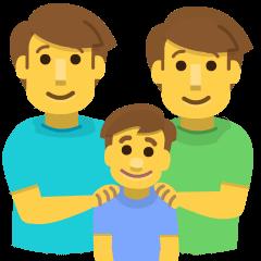 Family: Man, Man, Boy on Skype Emoticons 1.2