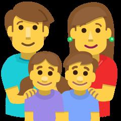 Family: Man, Woman, Girl, Boy on Skype Emoticons 1.2