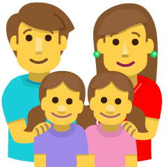 Family: Man, Woman, Girl, Girl on Skype Emoticons 1.2