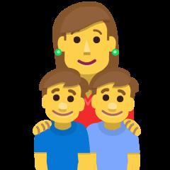 Family: Woman, Boy, Boy on Skype Emoticons 1.2