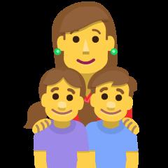 Family: Woman, Girl, Boy on Skype Emoticons 1.2