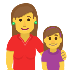 Family: Woman, Girl on Skype Emoticons 1.2