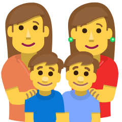 Family: Woman, Woman, Boy, Boy on Skype Emoticons 1.2