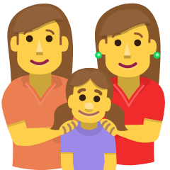 Family: Woman, Woman, Girl on Skype Emoticons 1.2