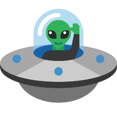 Flying Saucer on Skype Emoticons 1.2