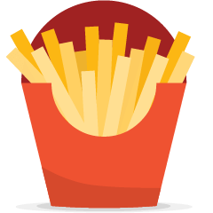 French Fries on Skype Emoticons 1.2