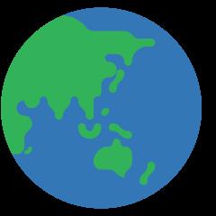 Globe Showing Asia-Australia on Skype Emoticons 1.2
