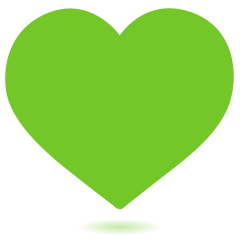 Green Heart on Skype Emoticons 1.2