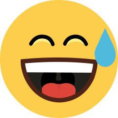 Grinning Face with Sweat on Skype Emoticons 1.2