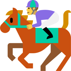 Horse Racing on Skype Emoticons 1.2